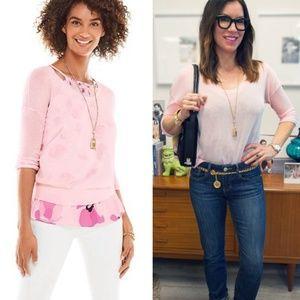 CAbi   Pink Gossamer Pullover Sweater - Size M